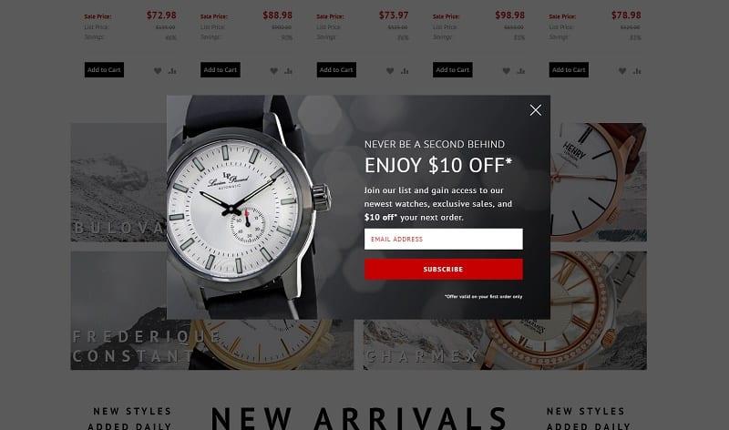 exit intent discount