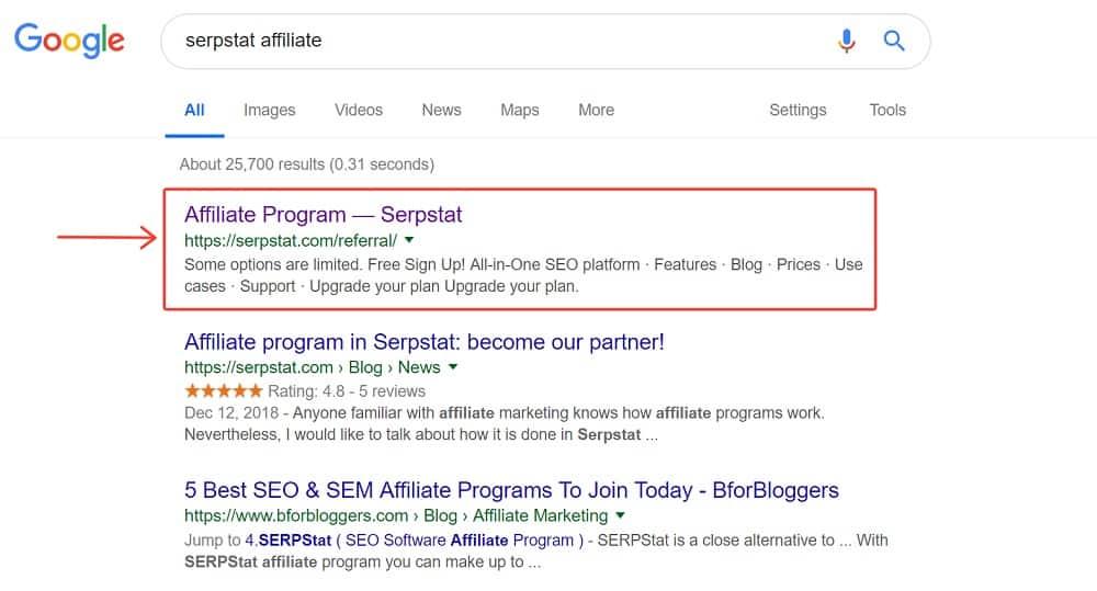 serpstat affiliate