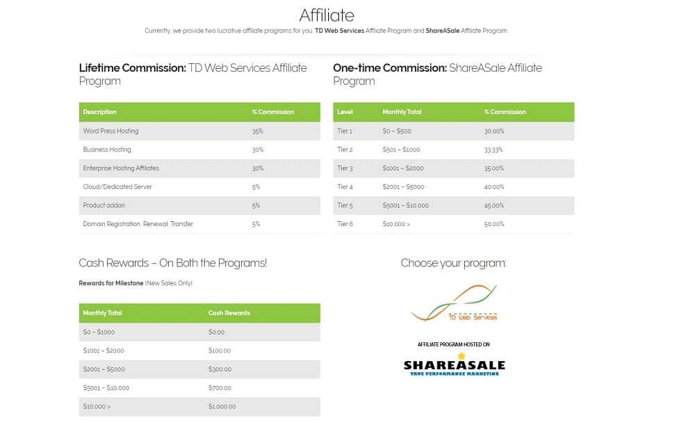 td web services affiliate