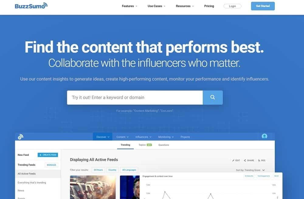 best tools for digital marketing - buzzsumo
