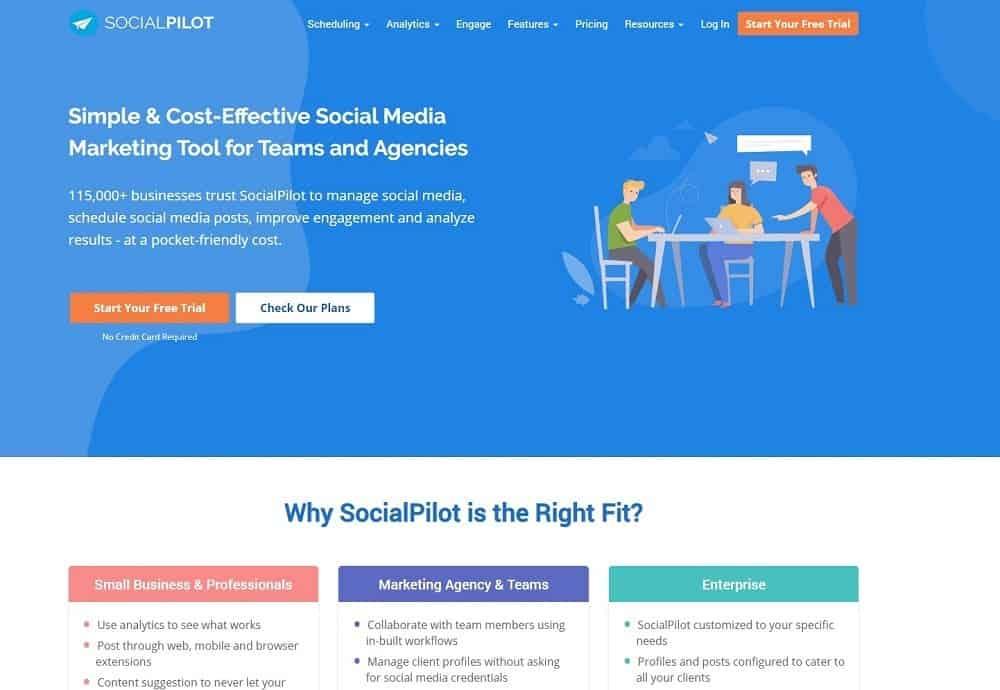 best social media platform - socialpilot