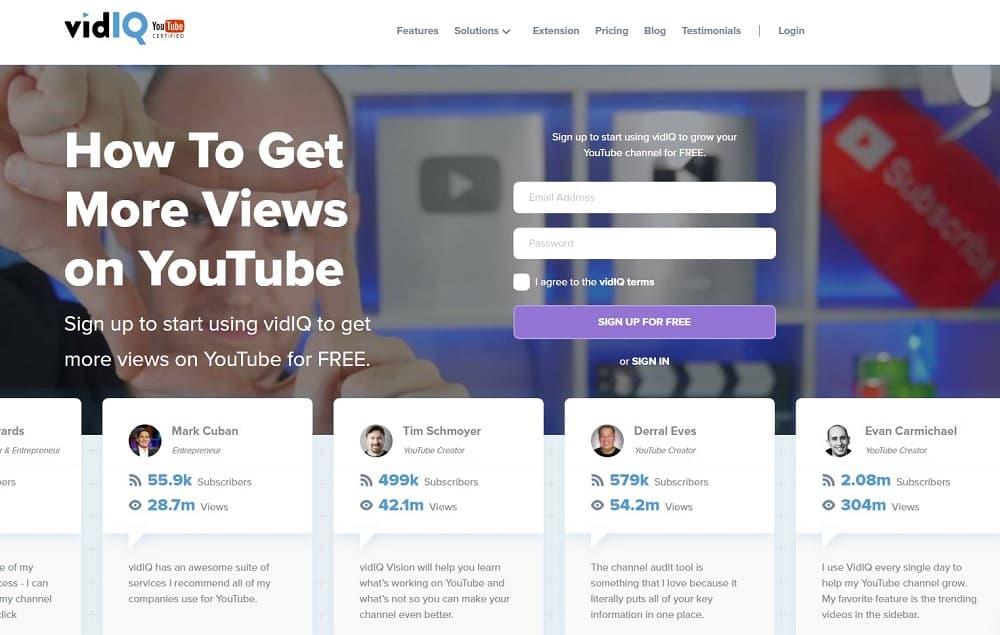 best tools for digital marketing - vidiq