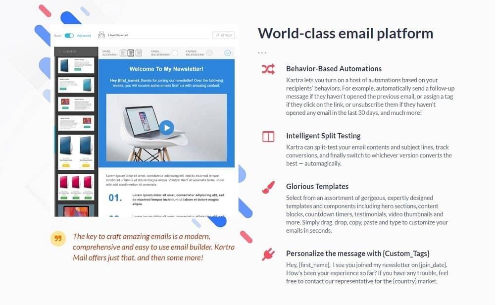 Kartra email marketing