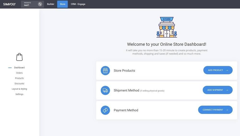 simvoly online store builder