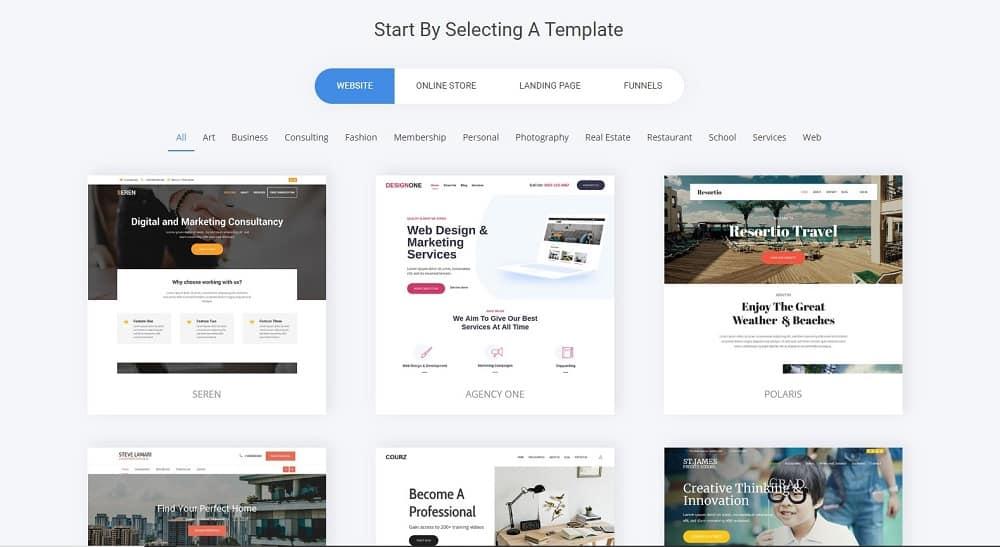 simvoly website templates