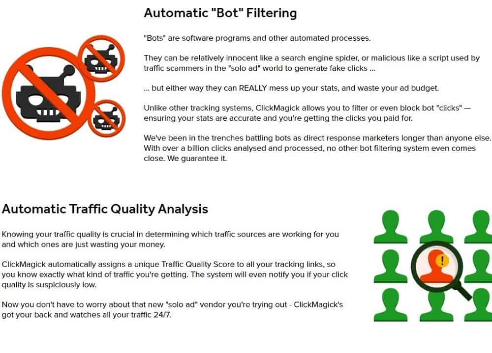 Traffic quality control and bot filtering